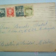 Sellos: SOBRE CON CARTA -1937-BATALLON DE SANIDAD MILITAR-MOTORIZADA-BARCELONA. Lote 24535706