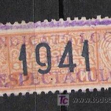 Sellos: NC144 BARCELONA CENTRAL NACIONAL SINDICALISTA 1 PTA ROJO SCGA -1941-. Lote 19425163