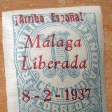 Sellos: SELLO NUEVO CON SOBRECARGA PATRIOTICA DE MALAGA 1937. Lote 12796415
