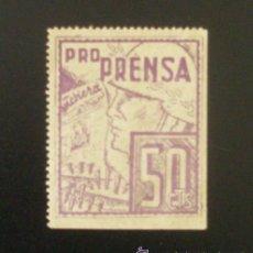 Sellos: VIÑETA PRO PRENSA GUERRA CIVIL ESPAÑOLA 50 CTS. . Lote 12983422