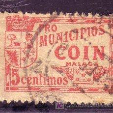 Sellos: COIN.- Nº 221 MATASELLADO PRO MUNICIPIOS 5 CTMOS ROJO . Lote 13749320