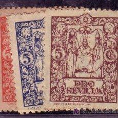 Sellos: SEVILLA.- Nº B 846/8 5 CTMOS. ROJO, MARRON, Y AZUL PRO SEVILLA. . Lote 13781020