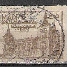 Sellos: 9119-GUERRA CIVIL MADRID IMPUESTOS,FISCAL? RARO,GRANDES MARGENES Y SIN DEFECTOS. Lote 19733411