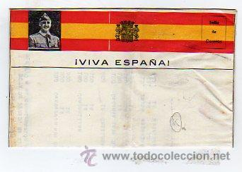 CARTA FRANCO. VIVA ESPAÑA. EJERCITO NACIONAL. GUERRA CIVIL. (Sellos - España - Guerra Civil - De 1.936 a 1.939 - Cartas)