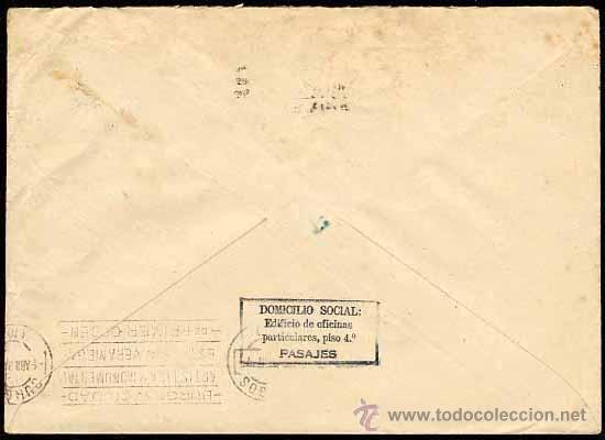 Sellos: 1937 CARTA DE SAN SEBASTIAN A LA JUNTA TÉCNICA DEL ESTADO BURGOS, EDIFIL 687, CRUZADA CONTRA EL FRIO - Foto 2 - 26872346