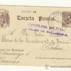 Sellos: CARTA MATASELLOS PORRERAS PORRERES MALLORCA 1939 CENSURA MILITAR. Lote 25567289