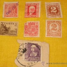 Sellos: LOTE DE 7 SELLOS SEGUNDA REPUBLICA, GUERRA CIVIL Y POSTERIOR.. Lote 26363841