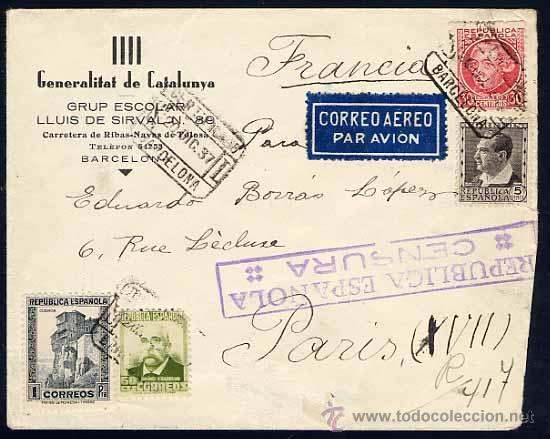 Carta sobre generalitat de catalunya barcelon comprar for Aereo barcelona paris