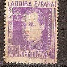 Sellos: VIÑETA ARRIBA ESPAÑA JOSE ANTONIO 25 CENTIMOS SEÑALES DE OXIDO. Lote 15292606