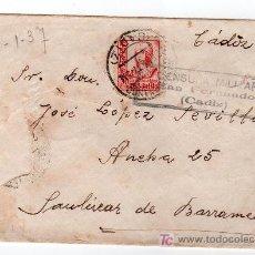Sellos: CENCURA MILITAR DE SAN FERNANDO, CADIZ. Lote 26490391