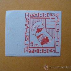 Sellos: TORRES - ASISTENCIA SOCIAL - 5 CTS.. Lote 25168016