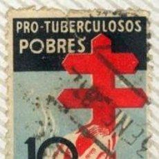 Sellos: PRO TUBERCULOSIS POBRES. SELLO DE 10 CTS, GUERRA CIVIL. Lote 16379457