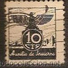 Sellos: VIÑETA AUXILIO DE INVIERNO GUERRA CIVIL ESPAÑOLA CIRCULADA 10 CTS. Lote 16433473
