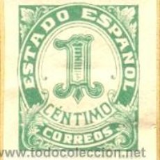 Sellos: SELLO ESTADO ESPAÑOL 1 CENTIMO 1937 ,HIJA DE F. FOURNIER BURGOS SIN CIRCULAR GUERRA CIVIL. Lote 16736570