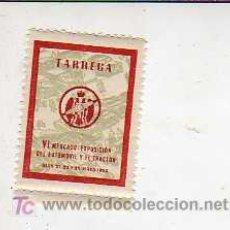 Sellos: VIÑETA DE TARREGA VI MERCADO DEL AUTOMVIL Y DEL TRATOR 1953 -VAIEDAD ROJA. Lote 172536900