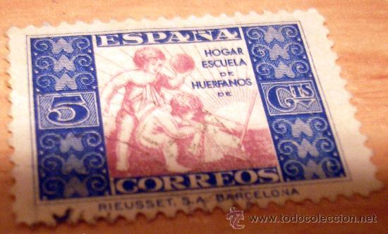 SELLO HUERFANOS DE CORREOS (Sellos - España - Guerra Civil - Beneficencia)