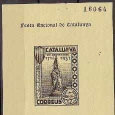 Sellos: PI DE LLOBREGAT 1937 5 CTS CATALOGO DE CORREOS Nº 3 RAFAEL DE CASANOVAS 11 DE SEPTIEMBRE CATALUNYA G. Lote 25454889