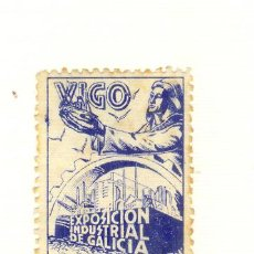 Sellos: 1944 VIGO PONTEVEDRA EXPOSICIÓN INDUSTRIAL DE GALICIA ESQUINA ROTA. Lote 22887872
