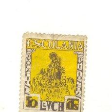 Sellos: 50 CÉNTIMOS ESCOLANIA DE LLUCH LLUC MALLORCA. Lote 22887874