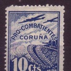 Selos: CORUÑA GALVEZ B 229* - AÑO 1937 - PRO COMBATIENTES. Lote 17740389