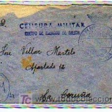 Sellos: CENSURA MILITAR. CUERPO DEL EJERCITO DE GALICIA. GUERRA CIVIL.. Lote 17991763
