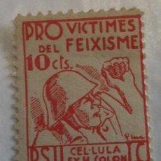 Sellos: VIÑETA PSU, 10 CTS, REPUBLICA. Lote 18000852