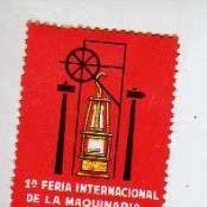 Sellos: INTERESANTE VIÑETA DE LA PRIMERIA FERIA INT,MINAS YACIMIENTOS Y CANTERAS -GIJON 1967. Lote 253484820