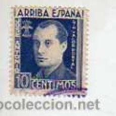Timbres: VIÑETA DE JOSE ANTONIO PRIMO DE RIVERA-FALANGE JONS VALOR 10 CENTIMOS AZUL. Lote 18631868