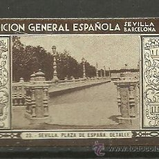 Sellos: 0268 SEVILLA-BARCELONA EXPOSICION GENERAL ESPAÑOLA 1929 SEVILLA PLAZA DE ESPAÑA Nº 22. Lote 23638291