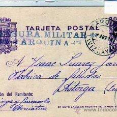 Sellos: ENTERO POSTAL. CENSURA MILITAR. MARQUINA. VIZCAYA. ABRIL 1938. GUERRA CIVIL.. Lote 27168400