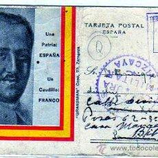 Sellos: CENSURA MILITARVIZCAYA. FRANCO. TERCIO ORIANEMENDI. REQUETE CARLISMO. GUERRA CIVIL. 1937.. Lote 22979174
