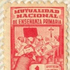 Selos: SELLO MUTUALIDAD NACIONAL DE ENSEÑANZA PRIMARIA, 1 PTS, GUERRA CIVIL. Lote 19212637