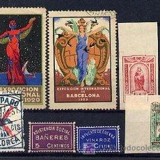 Sellos: ESPAÑA. PEQUEÑO LOTE DE VIÑETAS. GUERRA CIVIL Y 1929. Lote 27132999