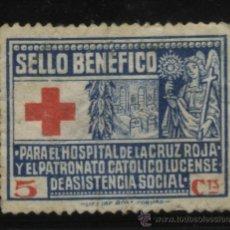 Sellos: S-1538- LUGO. PARA HOSPITAL CRUZ ROJA. Lote 19744591