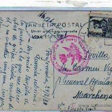 Sellos: LEON. CENSURA MILITAR PONFERRADA. GUERRA CIVIL. 1938. POSTAL DE PONFERRADA.. Lote 20086884