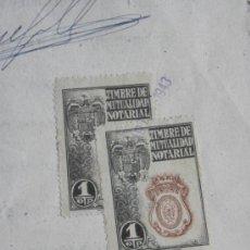 Sellos: TIMBRE MUTUALIDAD NOTARIAL 1 PESETA 1943. Lote 25055798