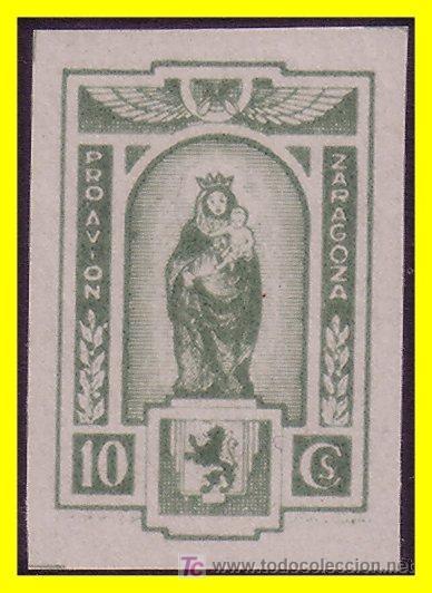 ZARAGOZA ZARAGOZA, GUERRA CIVIL, TIPO FESOFI Nº 16S * * (Sellos - España - Guerra Civil - Locales - Usados)