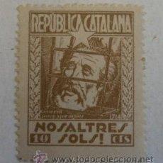 Sellos: VIÑETA REPÚBLICA CATALANA, NOSALTRES SOLS, 10 CTS. Lote 20776892