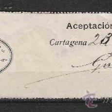 Sellos: SPAIN REVENUE FISCAL CARTAGENA 1912 COLEGIO ABOGADOS,PROCURADORES ,CARTAGENA ,MURCIA 1 PESETA.PERFEC. Lote 22052754
