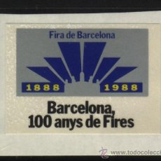 Timbres: S-1997- BARCELONA. 100 ANYS DE FIRES. AUTOADHESIVA. Lote 21085021