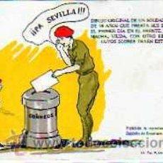 Sellos: GUERRA CIVIL. POSTAL PROPAGANDA. FALANGE. PA SEVILLA. LIT TIP. LOSADA GOMEZ HERMANOS. CORREOS.. Lote 23686677