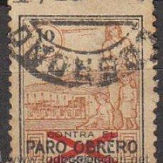 Sellos: LOGROÑO, CONTRA EL PARO OBRERO, USADO. Lote 21360935