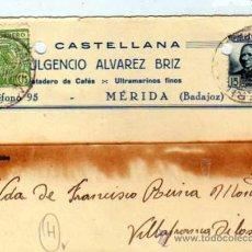 Francobolli: CASTELLANA. MERIDA. BADAJOZ. 11-12-1936. COMERCIAL. PARO OBRERO BADAJOZ 5 CTS.. Lote 21379009