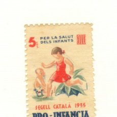 Sellos: CATALUÑA 5 CÉNTIMOS SEGELL CATALÀ 1935 PRO-INFANCIA PER LA SALUT DEL INFANTS. Lote 27321929