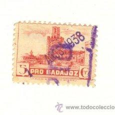 Sellos: 5 CÉNTIMOS BADAJOZ SELLO TINTA DE 1938. Lote 27321930