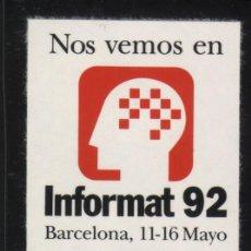 Sellos: S-2158- BARCELONA. INFORMAT 92. Lote 21585518