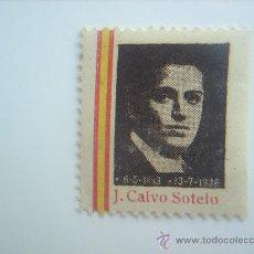 Sellos: SELLO , CALVO SOTELO - 1936 COLOR NEGRO , VER FOTOS. Lote 21710635