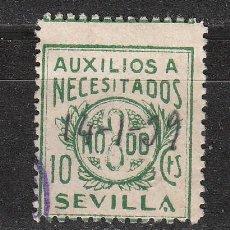 Sellos: SEVILLA. AUXILIO A NECESITADOS. 10 CTS.. Lote 21787894