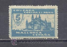 MALLORCA-GUERRA CIVIL- CRUZADA CONTRA EL PARO- Nº DE CONTROL AL DORSO- NUEVO (Sellos - España - Guerra Civil - De 1.936 a 1.939 - Nuevos)