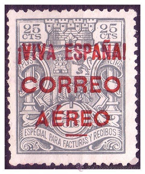 ELP BURGOS 1936 SELLOS FISCALES SOBRECARGADOS, EDIFIL Nº 58 (*) (Sellos - España - Guerra Civil - Locales - Nuevos)